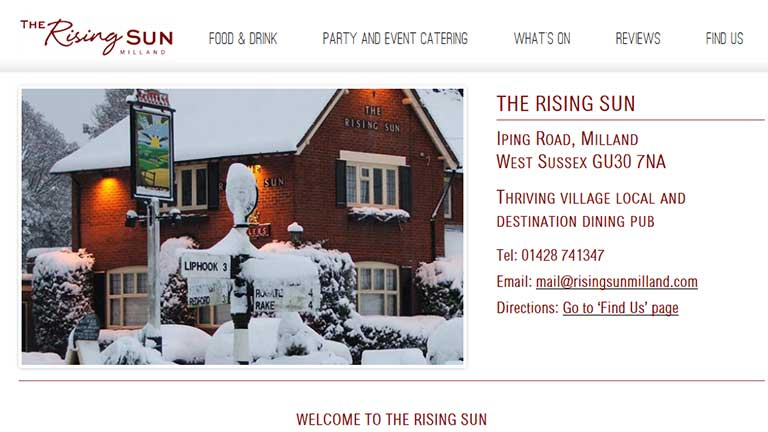 The Rising Sun Winter Scene