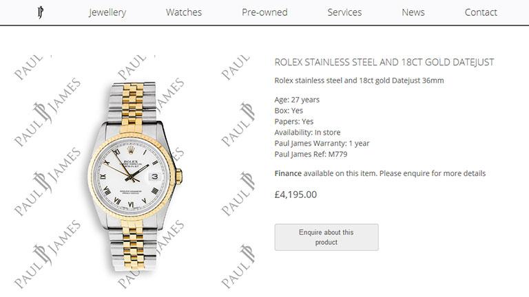 Paul James Jewellers eCommerce